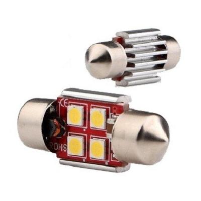Светодиодная лампа CV-8.5/C5W 4 SMD 3030
