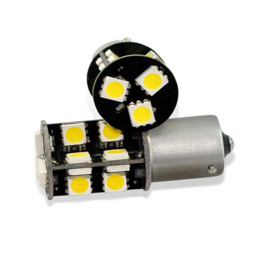 Светодиодная лампа BA15S 19 SMD 5050 с обманкой