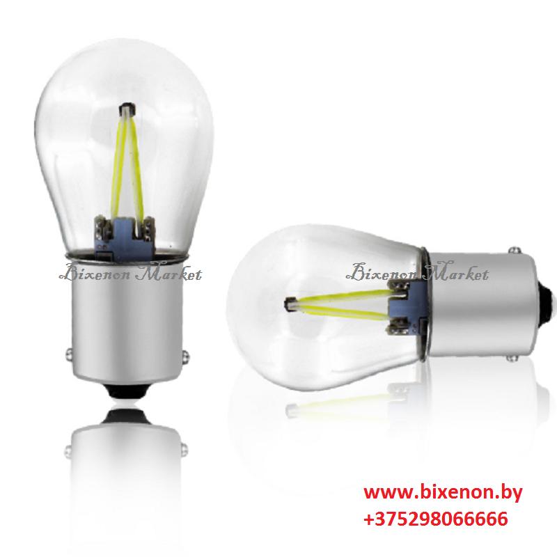 Светодиодная лампа BA15S стекло/пульсация S25-1156-2COB