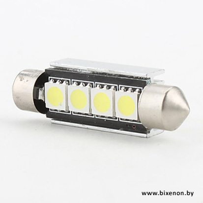 Светодиодная лампа G-SJ 4 SMD C5W с обманкой