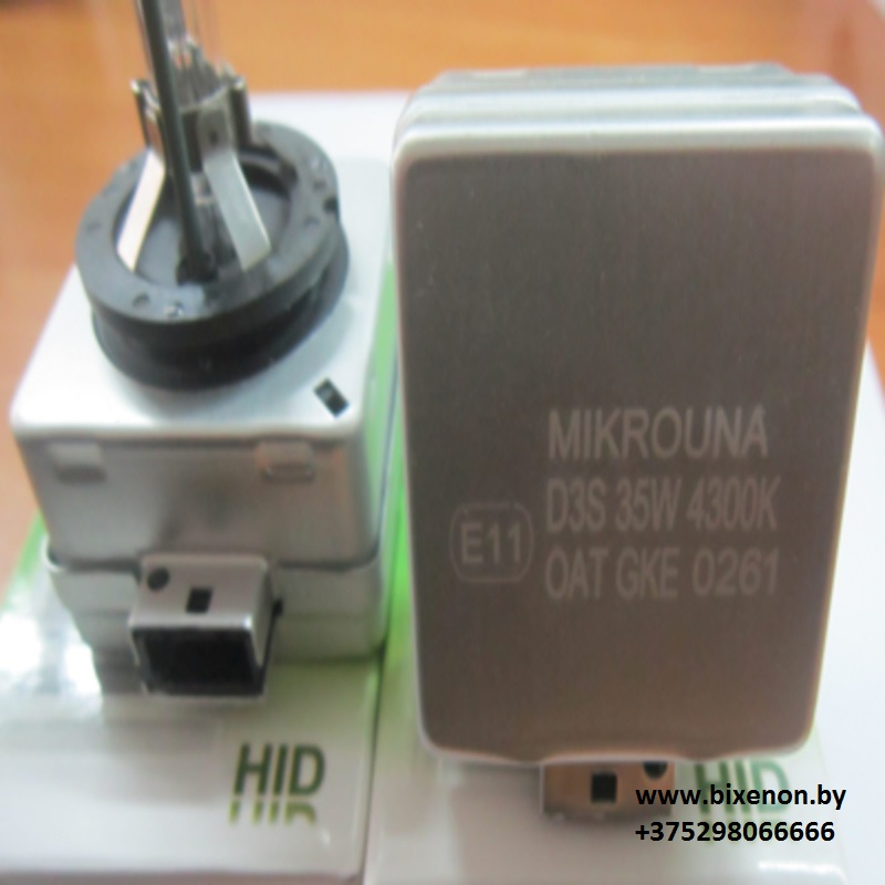 Ксеноновая лампа D3S Mikrouna Blue Glass