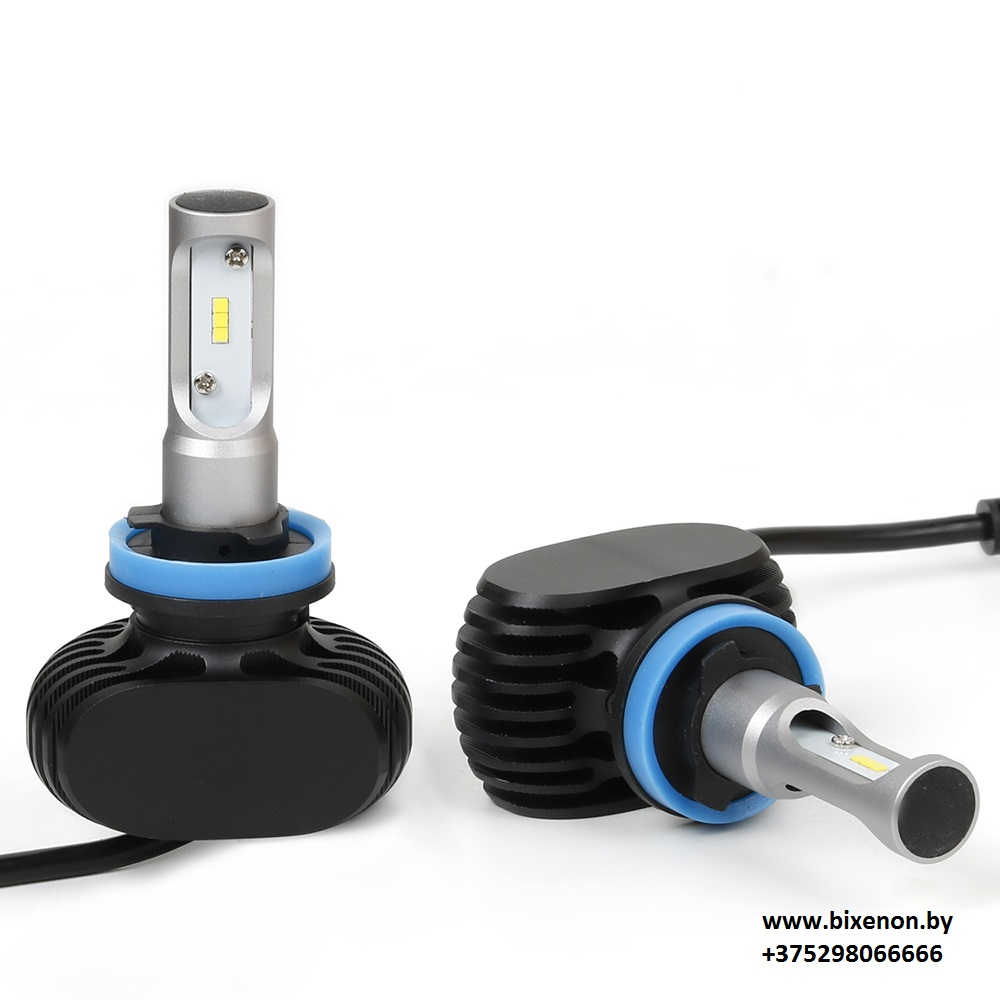 Светодиодные БИ лампы в головной свет N1 на матрице CSP Н4 «Philips»