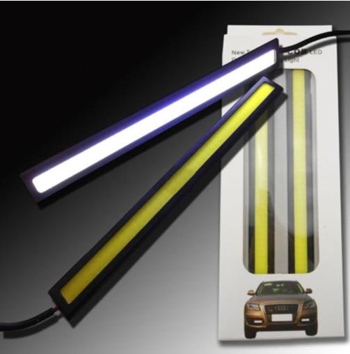 Ходовые огни DRL — LED COB 60 BLACK 14 cm
