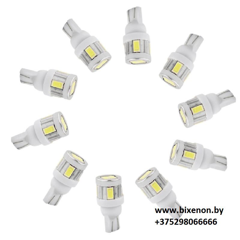 Светодиодная лампа W5W/T10-5630 6SMD