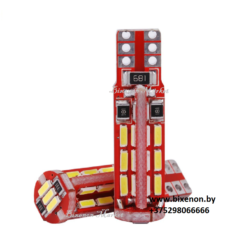 Светодиодная лампа T10/W5W 4014-27SMD CANBUS