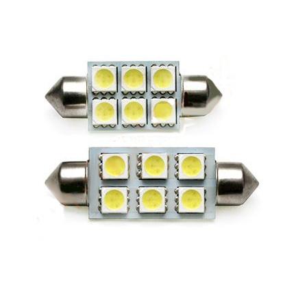 Светодиодная лампа C5W 6 SMD 5050