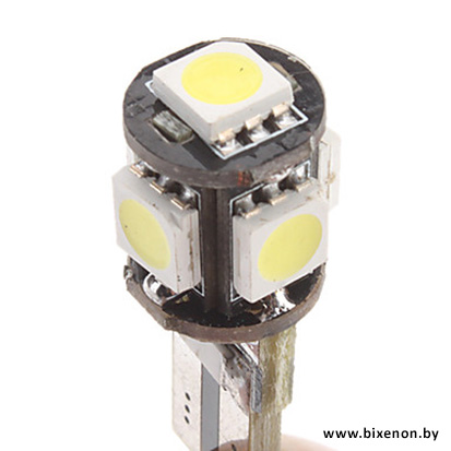 Светодиодная лампа W5W/T10 — 5P с обманкой
