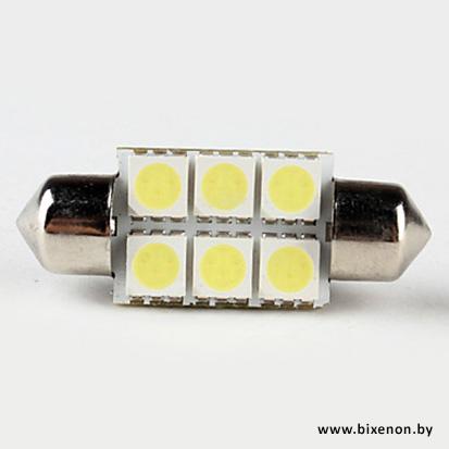 Светодиодная лампа C5W-6-SMD-5050