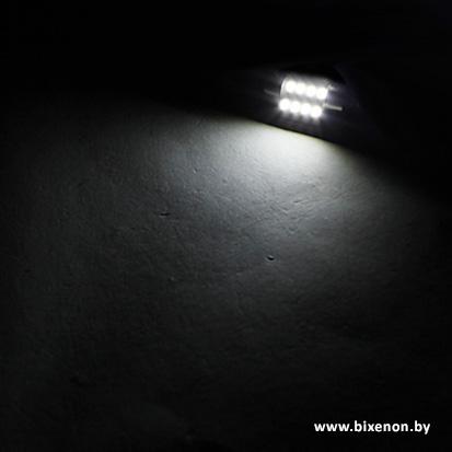Светодиодная лампа C5W 6 SMD 1210