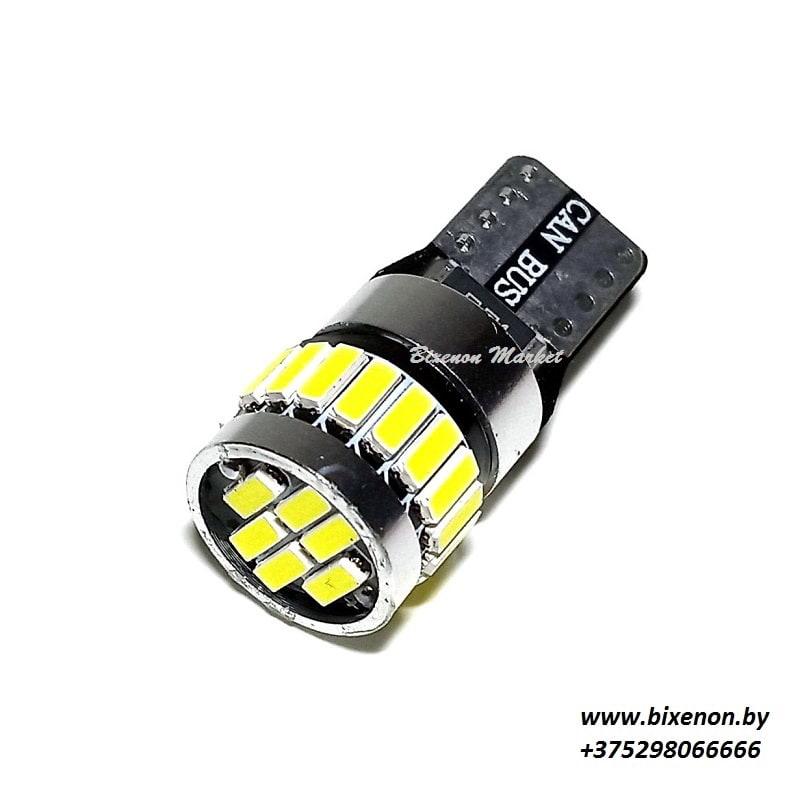 Светодиодная лампа T10 4014-24SMD CANBUS «Граната»