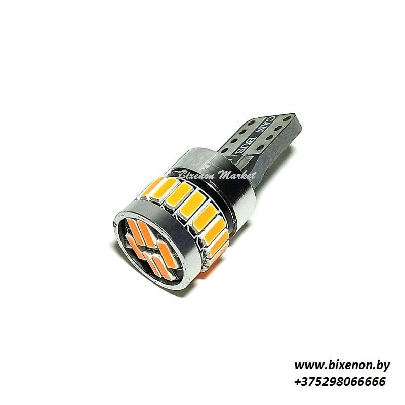 Светодиодная лампа T10 4014-24SMD CANBUS Оранжевый