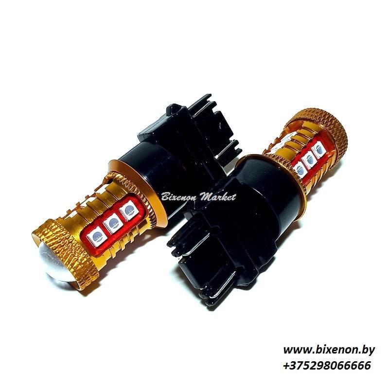 Светодиодная лампа T25 (3156)-3030-15SMD 1к/2к КРАСНЫЙ «американцы»