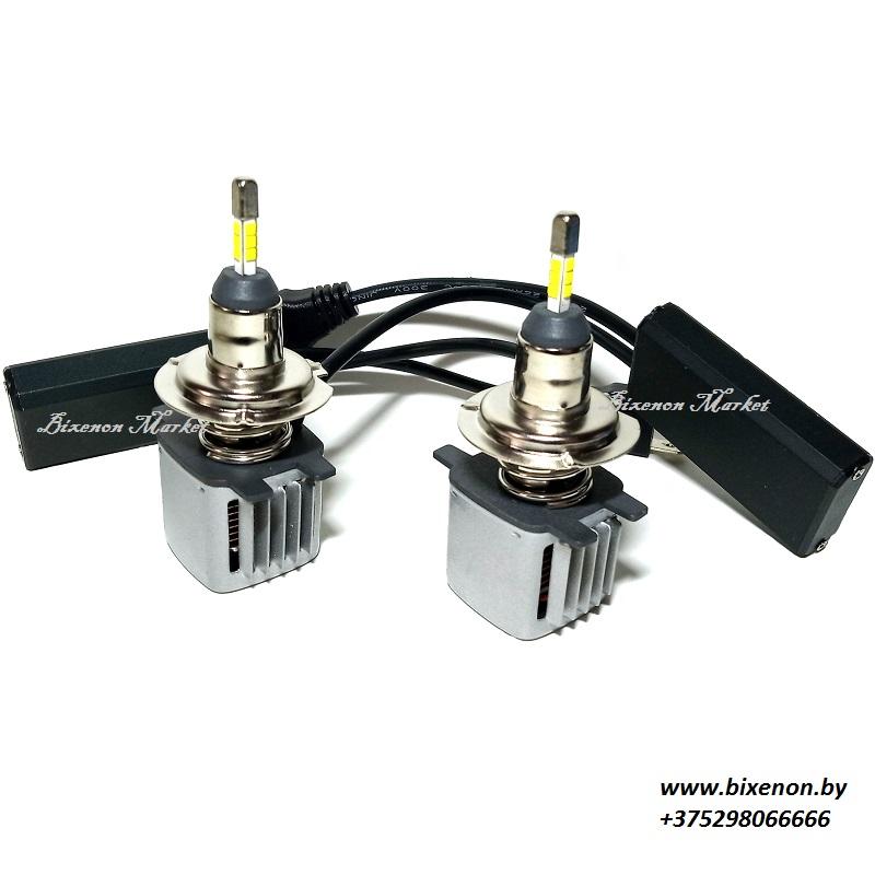 Светодиодные лампы головного света F3 (4200 LM) H7 на матрице CSP Samsung