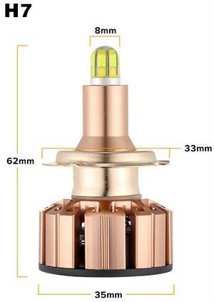 Светодиодные лампы в головной свет U6(2500lm) H7 multiCOB