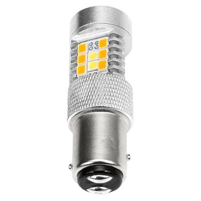 Светодиодная лампа ДХО + поворотник 1157-P21/5W-BAY15D