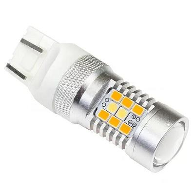 Светодиодная лампа ДХО + поворотник 7443-W21/5W-T20