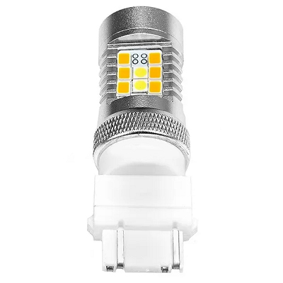 Светодиодная лампа ДХО + поворотник P27/7W-3157-T25