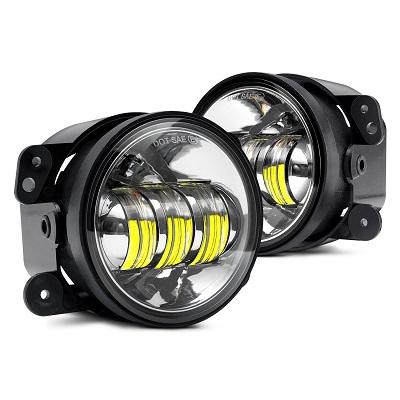 Светодиодные ПТФ с ангельскими глазками LED