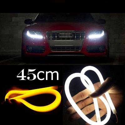 Ходовые огни DRL — LED ГИБКИЕ (Белый+Желтый) 45см