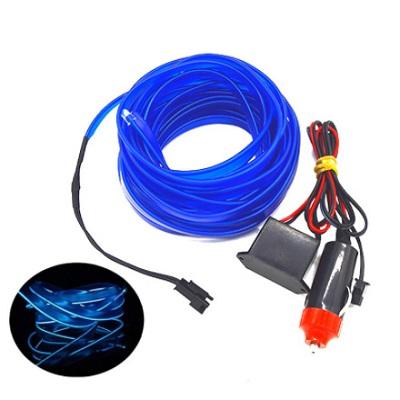 Неоновый светящийся шнур 5 метров Синий