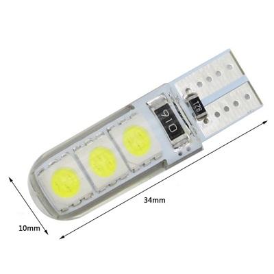 Светодиодная лампа T10/W5W 5050-SILICA GEL 6SMD